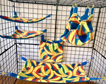 Sugar glider fleece cage set