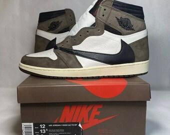 Travis Scott x Nike Air Jordan 1 High «Cactus Jack» / Beautiful replica!