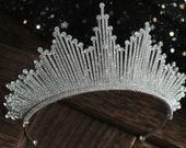 1920s great gatsby tiara, glamorous tiara, wedding tiara, quinceanera tiara, birthday tiara