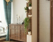 Wall mounted Wood Planter, Wooden Planter Stand, wood ladder