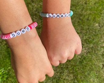 Bsf dumb and dumber clay bead bracelet