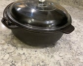 Wagner 2 quart bean pot with glass lid
