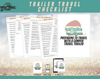 RV Camper Trailer Preparation Journal   Printable Planner   RV Digital Planner for Goodnotes, Noteshelf, Zoomnote, PDF