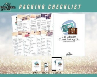 Ultimate Travel Packing Checklist  Printable Planner   RV Digital Planner for Goodnotes, Noteshelf, Zoomnotes and other PDF Apps