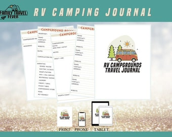 RV Campgrounds Travel Journal   Printable Planner   RV Digital Planner for Goodnotes, Noteshelf, Zoomnotes and other PDF Annotating Apps