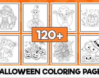 Halloween coloring book 120 pages