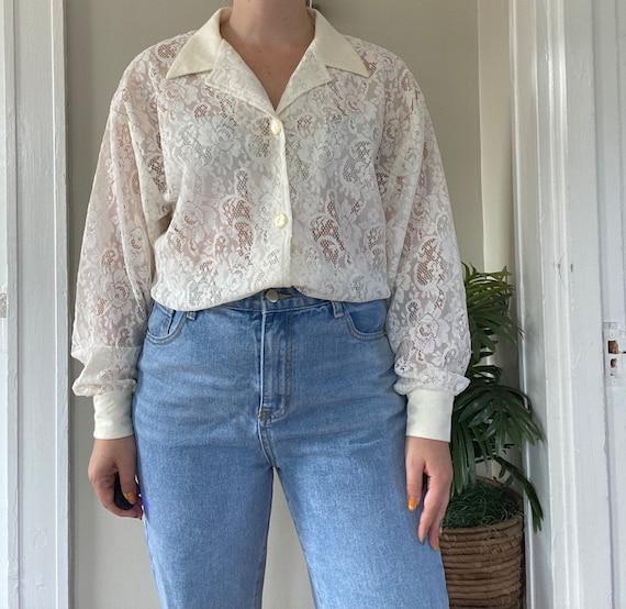 Vintage 1990s Lace Shirt - image 4