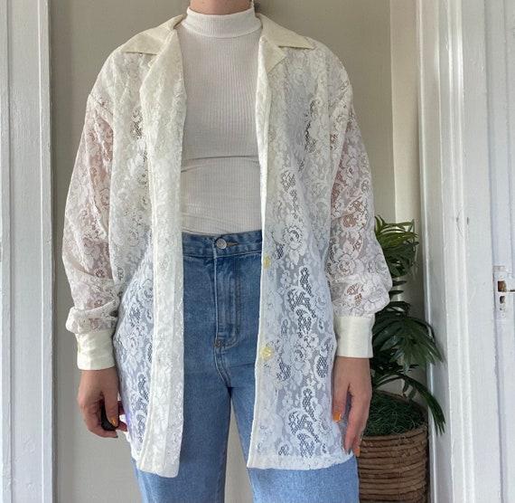 Vintage 1990s Lace Shirt - image 3