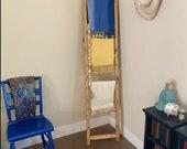Wooden Blanket Ladder, Towel Rack