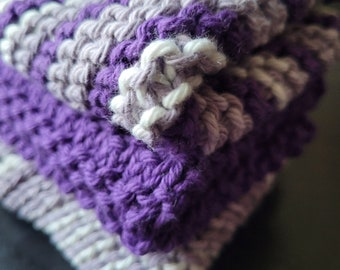 Handmade Knitted Cotton Wash Cloth