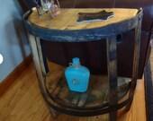 Head Table-Vintage Wooden Half Barrel