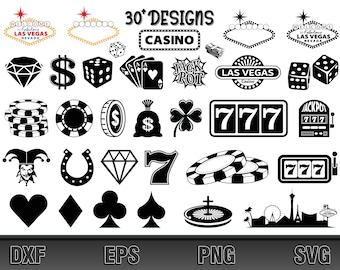 Las Vegas SVG Bundle | Casino SVG | Welcome to Fabulous Las Vegas Nevada SVG | Cut File