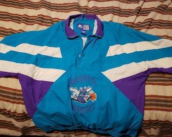 Charlotte Hornets Starter Jacket Half Zip 90s XL