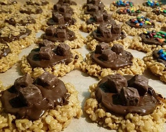 Scotcharoos peanut butter crispy gifts cookies rice crispy bars birthdays Roos chocolate candy nuts peanut butter cereal