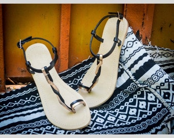 Midnight Braid Sandals
