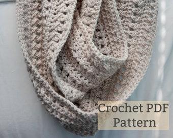Digital PDF Crochet Scarf Pattern, Instant Download, Fall Easy Crochet Scarf Pattern,  Easy Crochet Pattern, Women's Scarf Pattern