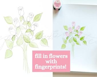Digital Download, Kids Art, Gift for Mom, Gift for Grandma, Nursery Art, Fingerprint Art