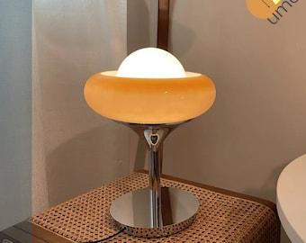 Arancia the Guzzini lamp   Bedroom desk   Vintage italian egg tart table lamp, 1970s Inspired Rendition