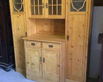 A beautiful exceptional kitchen cabinet, antique, restored