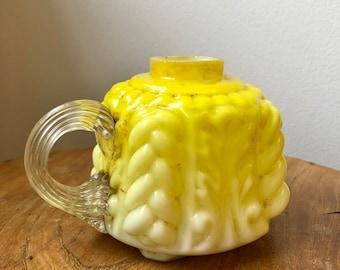 Decorative Yellow Glass Oil Lamp Base