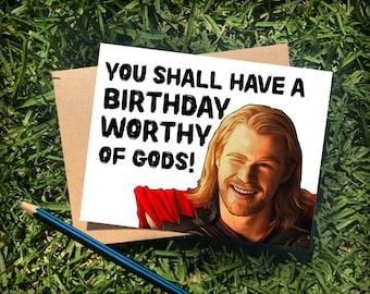 Thor Birthday Card