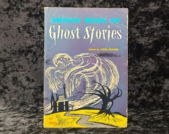 Vintage children's scary stories book - Arrow Book of Ghost Stories edited by Nora Kramer - 1969 paperback horror anthology
