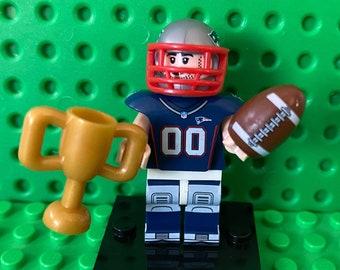 New England Patriots Brick Minifigure