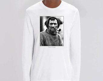 Tom Crean, Irish explorer. Stanley/Stella Shuffler Long Sleeve T-shirt - 100% organic cotton