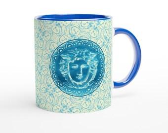 White 11oz Ceramic Mug with Color Inside