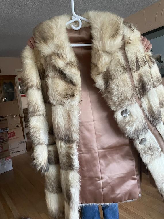 1970 hand made fur coat