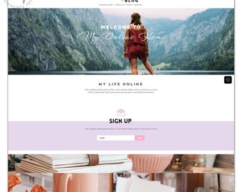 Wix Website Theme Template - Travel/Fashion/Lifestyle Blog Business or Personal Website - Super Easy Install | Small Business | No Coding