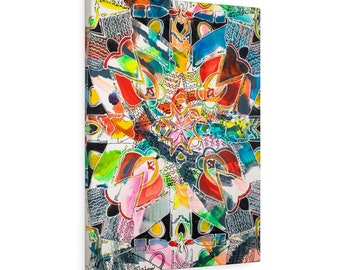"Print, Abstract Art, Folk Art, Painting, Canvas Print, Art Print, Canvas Gallery Wraps, ""Chorus"""