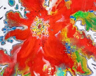 Original Art, Abstract Art, Folk Art, Acrylic/Water Media, Original Painting