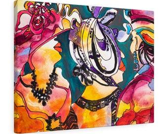 Print, Abstract Art, Folk Art, Painting, Canvas Print, Art Print, Canvas Gallery Wraps