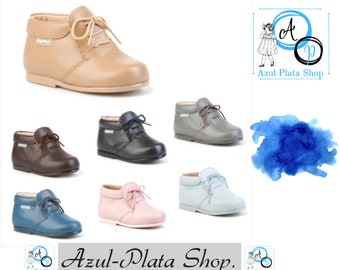 UNISEX , leather BOOTS, Leather Toddler Shoes, 100% leather,Made in Spain,Classic boy or,girl shoes ,elegant shoes,High Quality