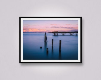 Sidney Pier at Golden Hour, West Coast, Vancouver Island, British Columbia, Canada