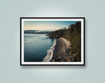 West Coast Beach, Aerial Photo of Beach, Drone Photo, Otter Point, Vancouver Island, British Columbia, Canada