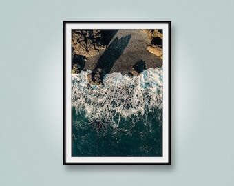 West Coast Waves, Aerial Photo of Waves, Drone Photo, Otter Point, Vancouver Island, British Columbia, Canada