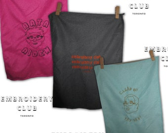 Embroidered Micofibre Cloths