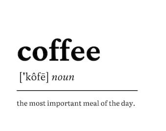Coffee Dictionary Print