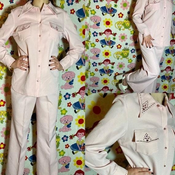 Killer 1970s vintage Domani rhinestone cowgirl we… - image 1