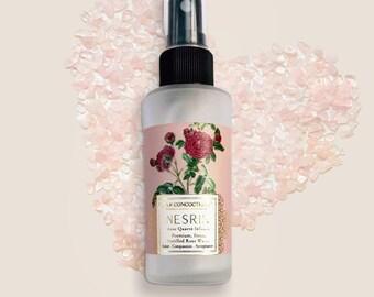 Premium Rose Water infused with Rose Quartz
