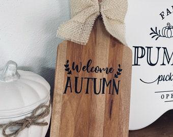 Deko Brett Welcome Autumn Fall Farmhouse Decor Herbst