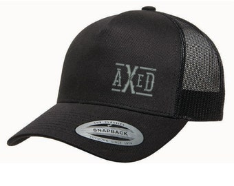 AXED Hat - Solid Black Trucker Style Hat, One-Size (Use Coupon Code for Local Pickup)