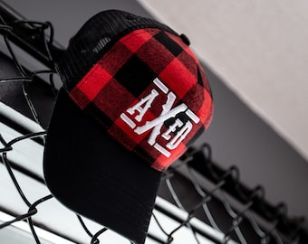 AXED Hat - Plaid Trucker Style Hat, One-Size (Use Coupon Code for Local Pick-Up)
