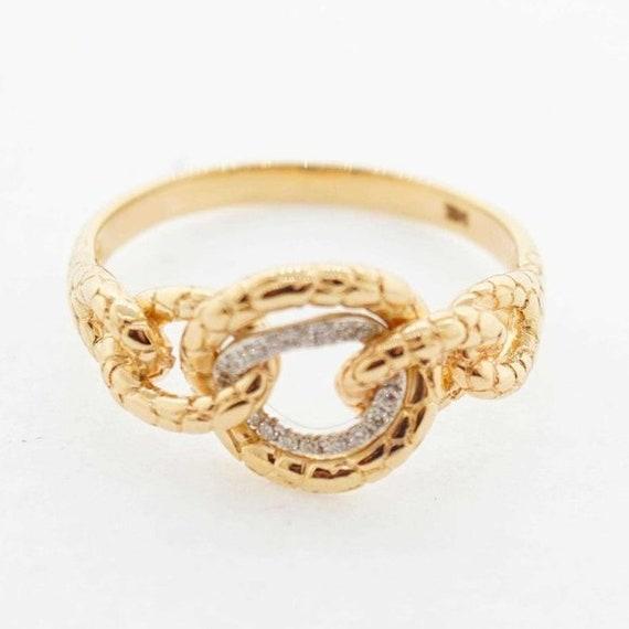 14k yellow gold ring diamond