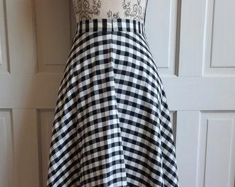 Vintage KATI chequered full skirt