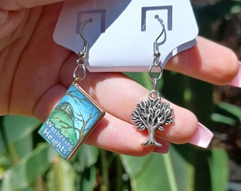 """Silver """"Wuthering Heights"""" Earrings"""