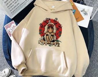 Pull Princesse Mononoké Studio Ghibli Harajuku / Femmes Ullzang Miyazaki Pull
