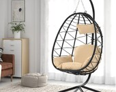 Egg Chair with Stand Outdoor Swing Patio Wicker Rattan furniture